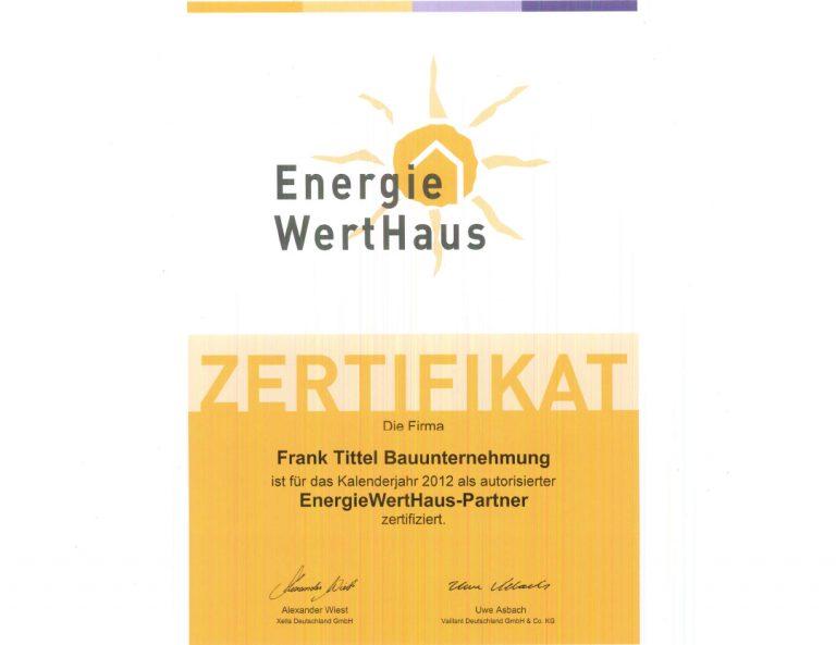 Autorisierter Energiewerthaus-Partner 2012